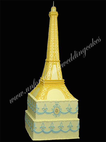 Unforgettable Wedding Cakes by Ramona eiffel tower cake