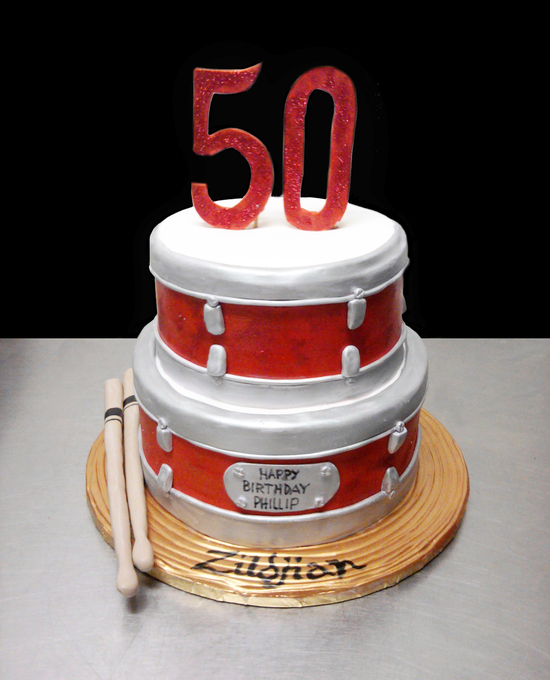 2 Tier Cake Drum And Symbol Birthday Cake Unforgettable Wedding Cake
