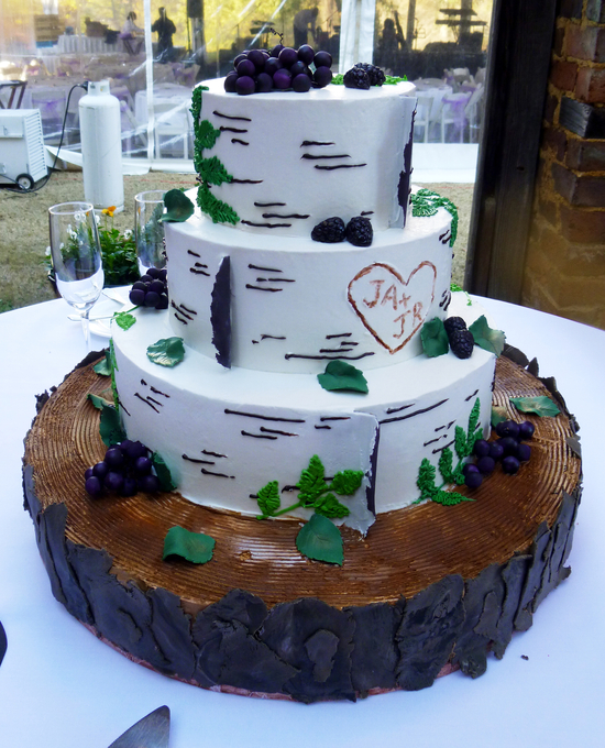 4 Tier Cake - Tree Stump and Timber | Unforgettable Wedding Cake